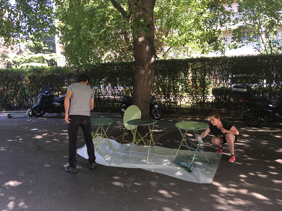 montreuil, table, bricolage
